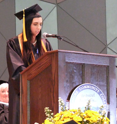 An honors student graduating as valedictorian.