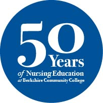 50 years of Nursing Education at Berkshire Community College badge