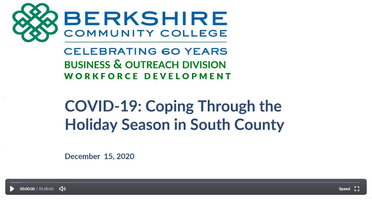 COVID 19: Coping Through the Holiday Season in South County