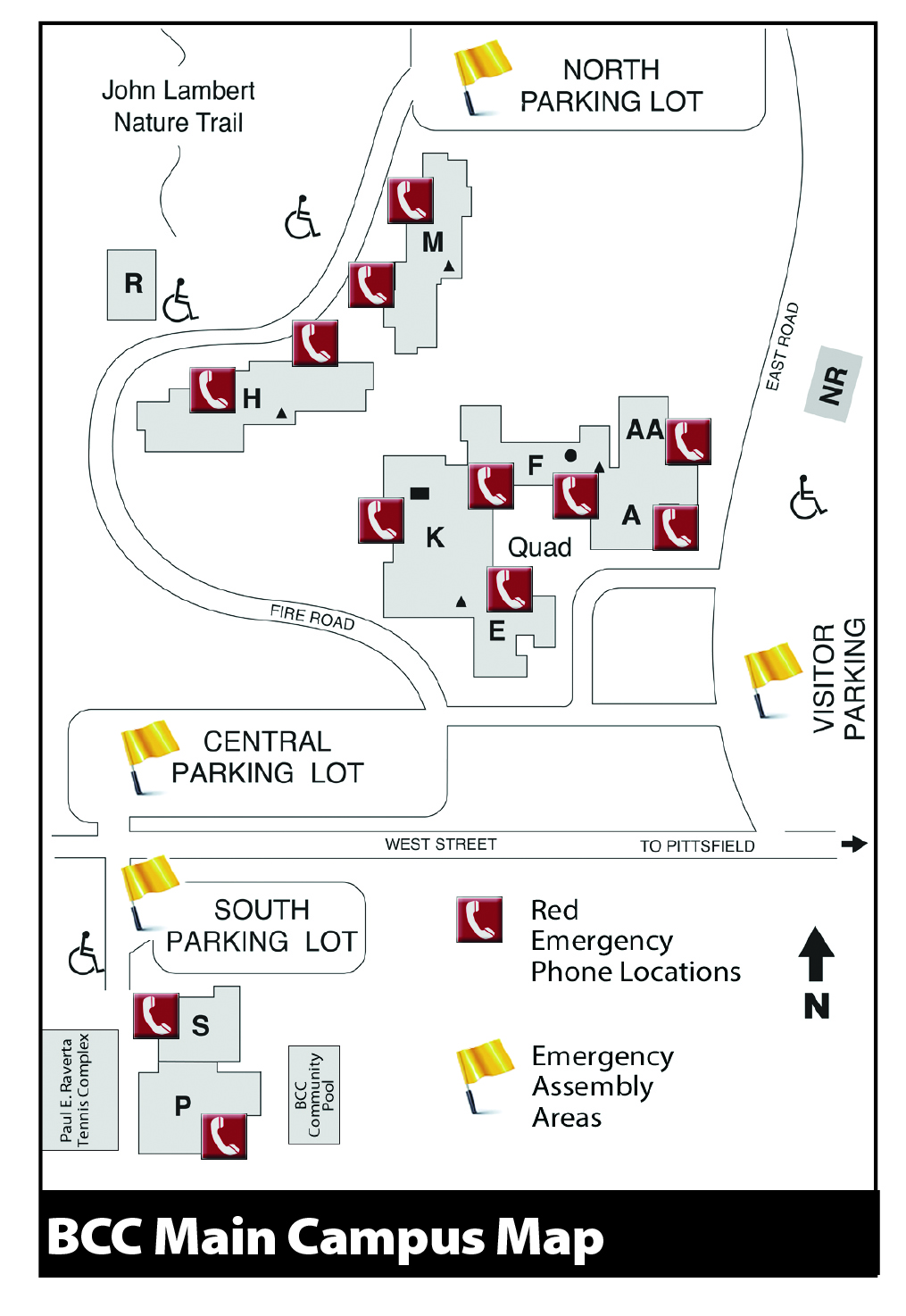 bcc central campus map Emergencies Evacuations Berkshire Community College bcc central campus map