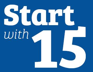 Start with 15